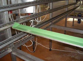 Abar tray-type proofer  6000 units, continuous frying unit and cooling tray PE12180