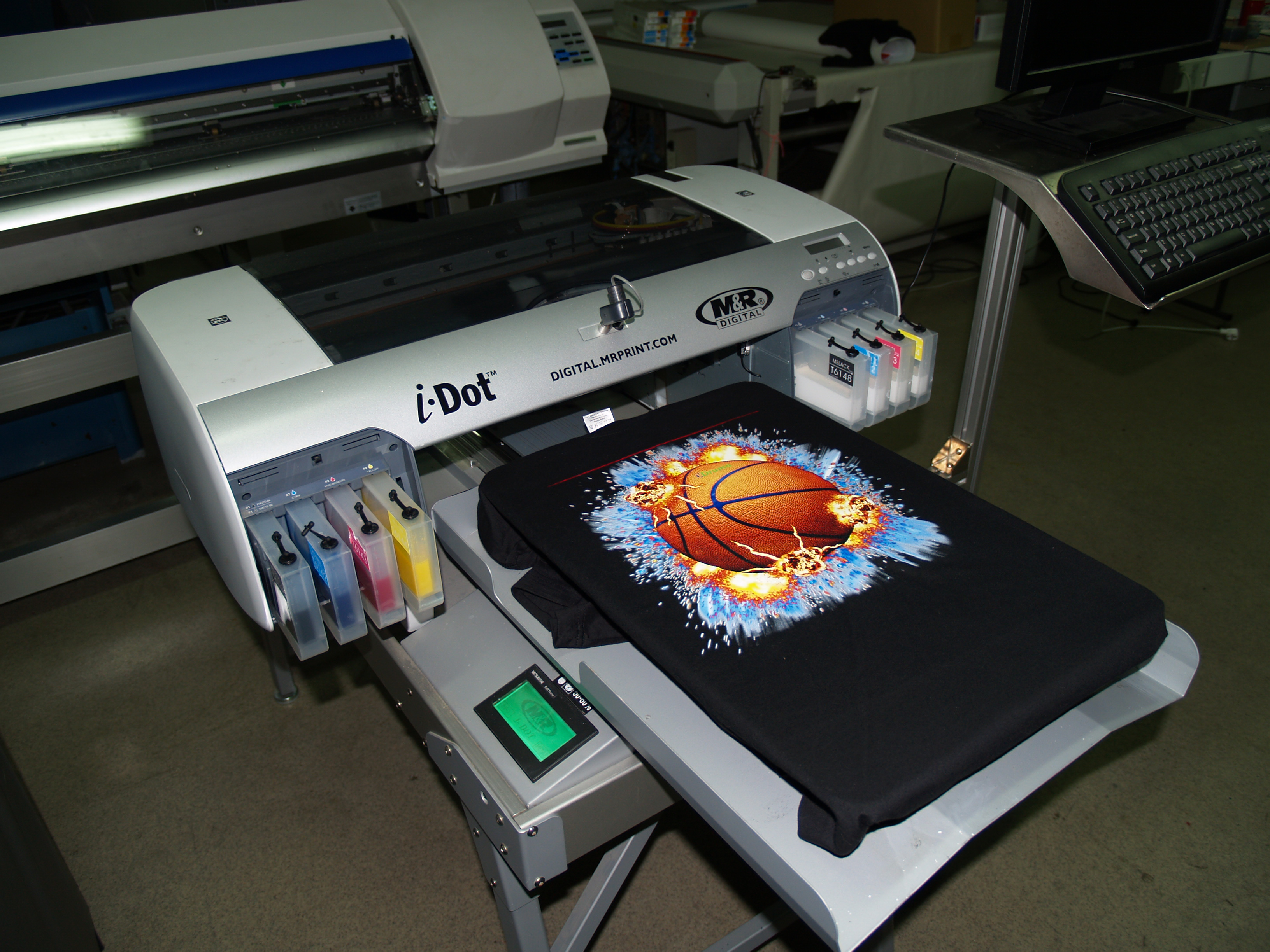 Used printer for t shirts i dot 2100 exapro for Machine for printing on t shirts