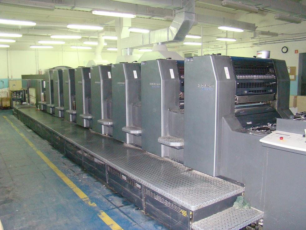Used 8 Colours Offset Machine Heidelberg Sm 74 8 P5 L Exapro