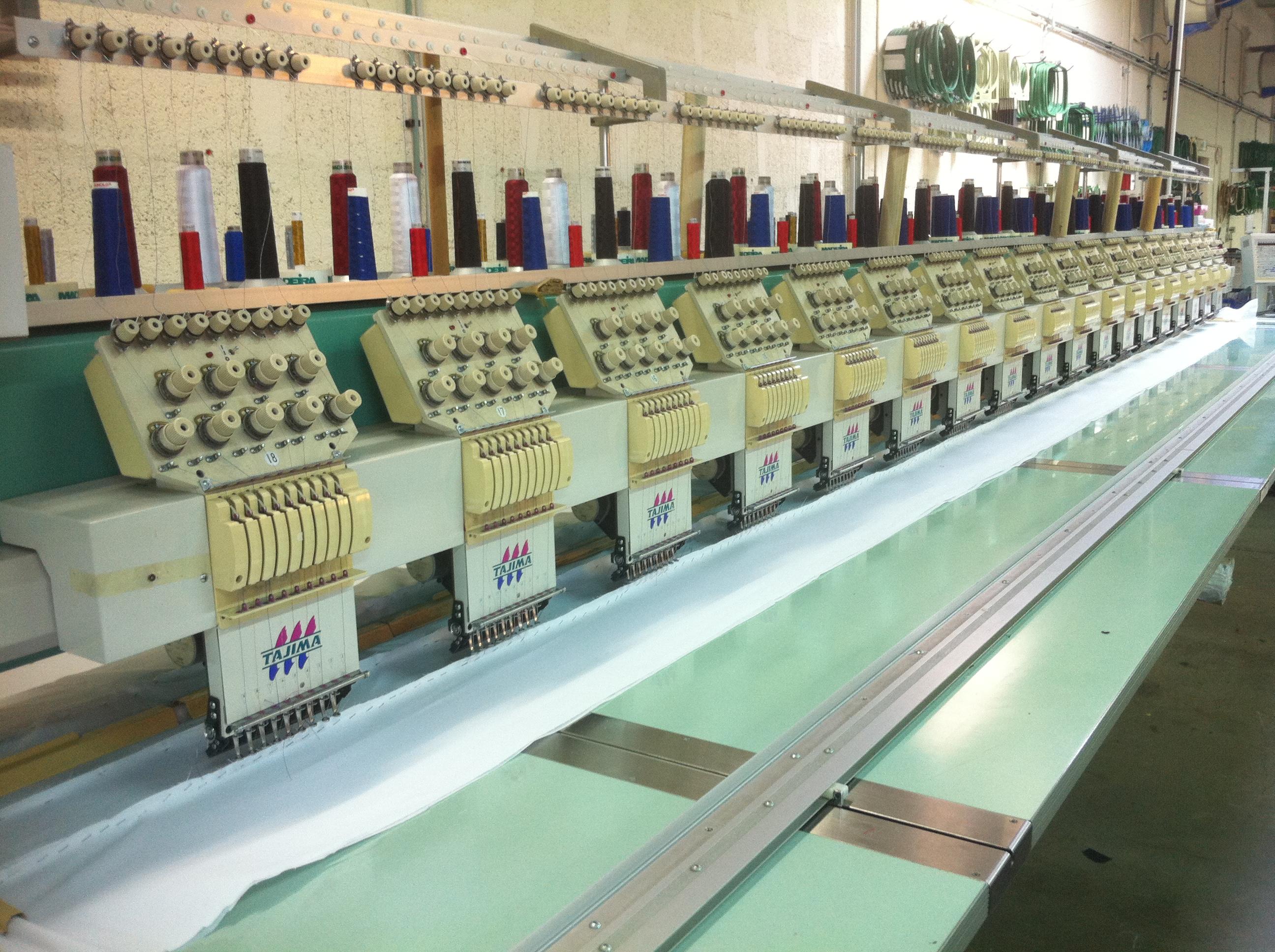 Used TAJIMA TMFD-G918 Multi-heads embroidery machine - Exapro