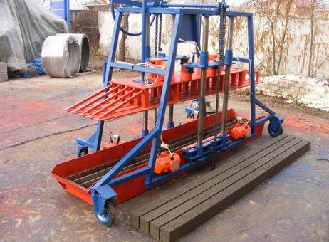 Pondeuse pour fabrication de poutrelles en b ton dmb ppb3m for Fabrication d un linteau en beton