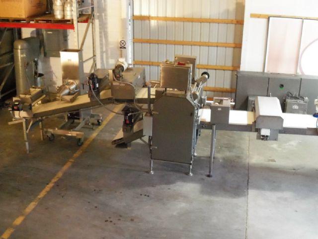 moline mcr-24 24 u0026quot  wide sheeting line dough sheeter