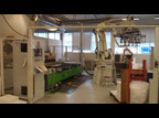 CNC machining center Rover 322 + Kawasaki robot +  BIESSE ROVER 16