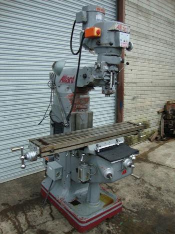 alliant vertical milling machine