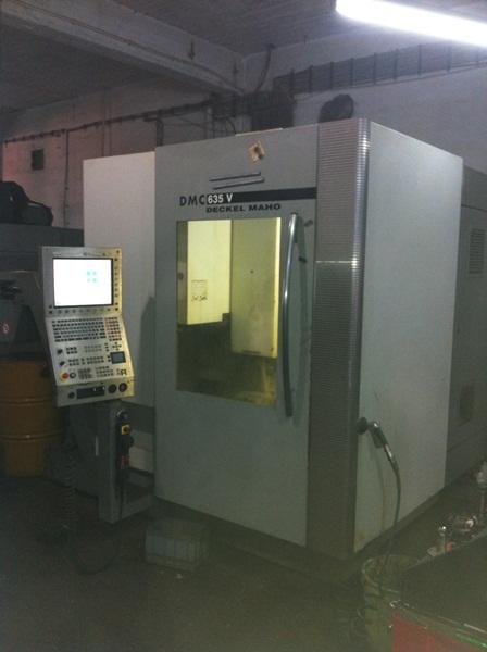 Dmg deckel maho dmc 635v bearbeitungszentrum vertikal for Dmg deckel maho