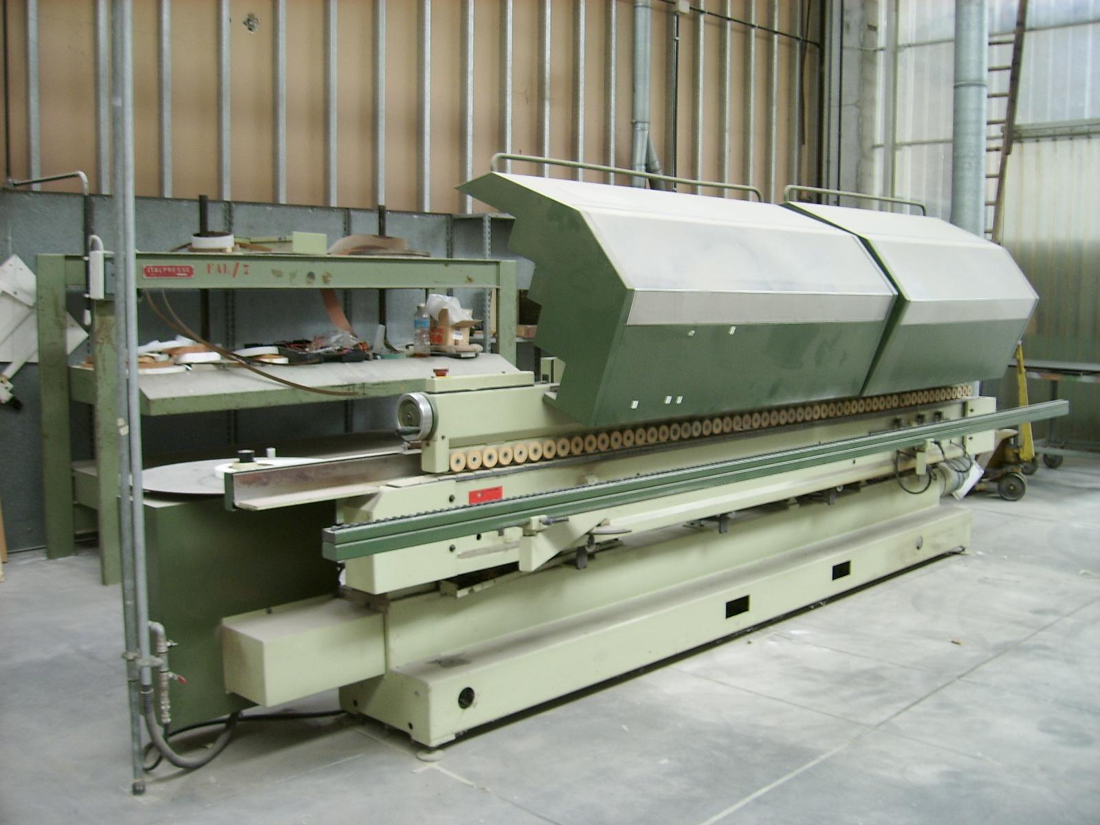 Bordatrice automatica per piani in legno macchinari usati for Cabina a 2 piani