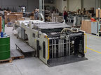 Used Cylinder screen printing press with UV/R drying tunnel Sakurai SC-102AII