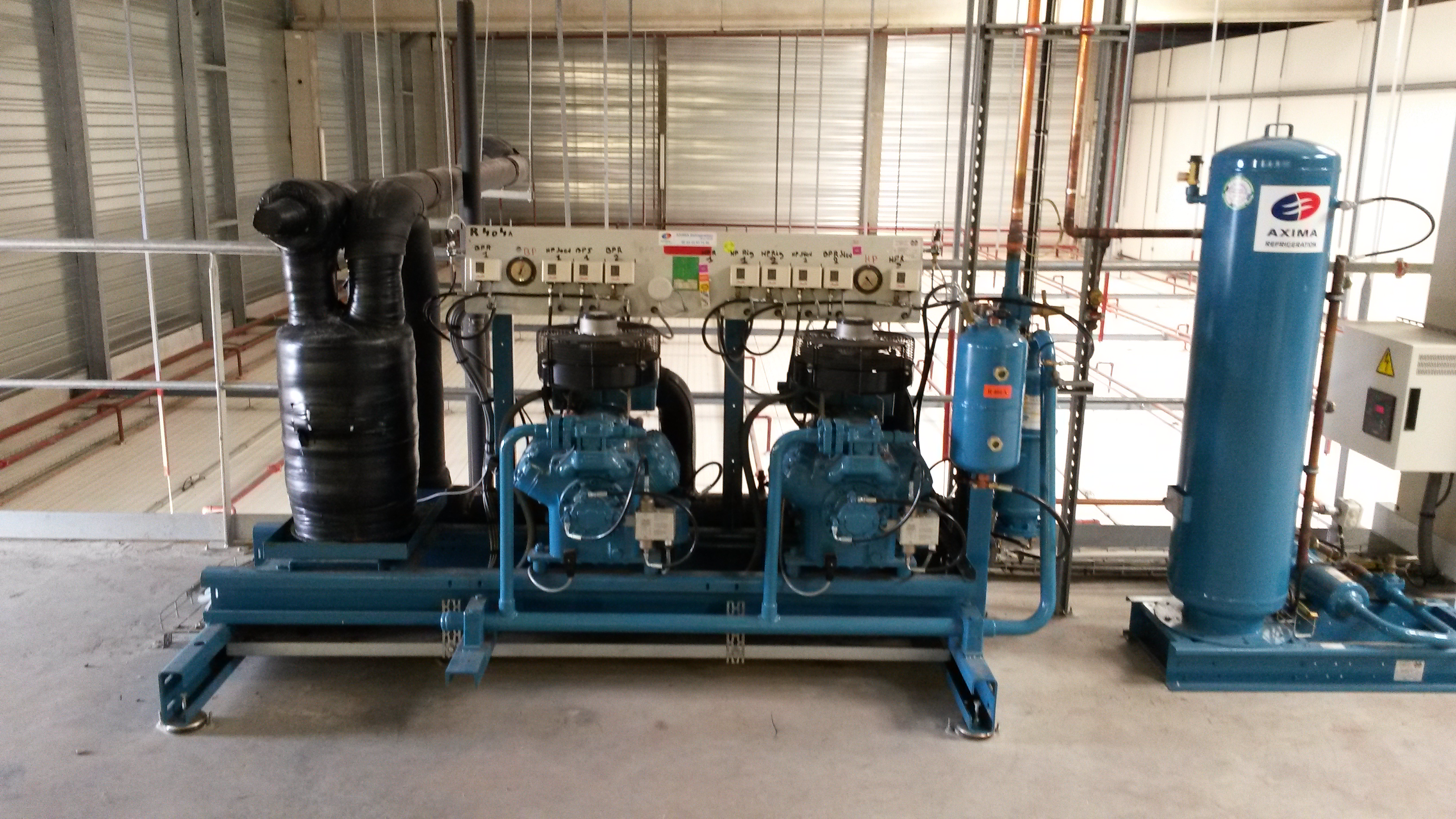 Centrale production froid profroid 52 kw condenseurs - Chambre froide d occasion belgique ...