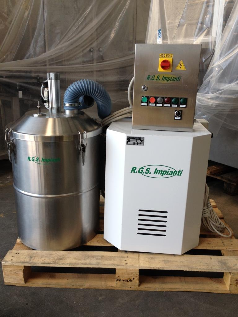 Industrial Vacuum Systems Manufacturers : Used rgs mod sfa industrial vacuum cleaner for