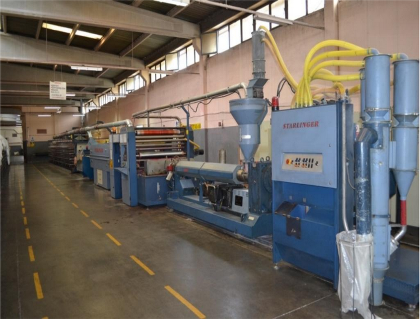 Used Starlinger Starex1400 105 Extrusion Line Exapro