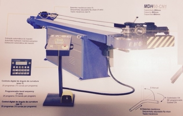 AMOB MDH-60 CN1 Profile bending machine cnc - Exapro