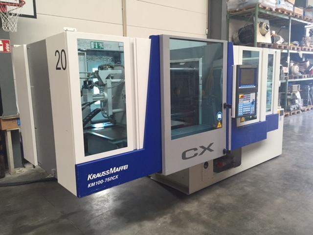 Krauss Maffei Km 100 750 Cx Injection Moulding Machine