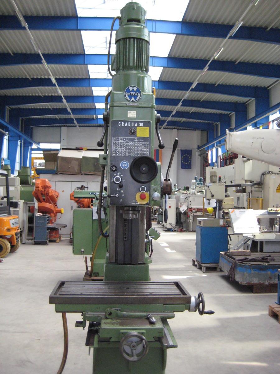 Webo Gradua 30 Floor Type Drilling Machine Column Pillar