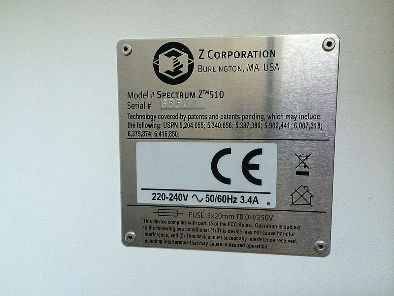 zcorp machine