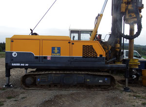 Used Rotary drilling rig BAUER MG20 # 1010