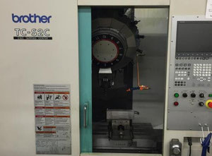 Used Brother TCS2C drilling machine