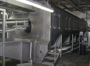 Machine de découpe, lavage et blanchiment de fruits et légumes BERIEF Jumbo KODUKO 16/500
