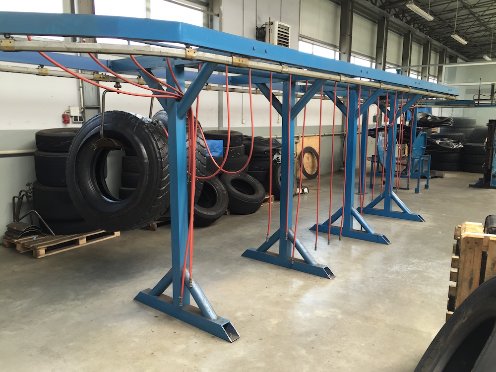 Complete tyre retreading production line (truck tires) - Exapro