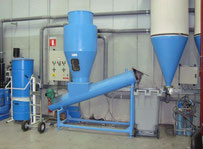 - Compactor for spun fibers Baling press - waste compactor