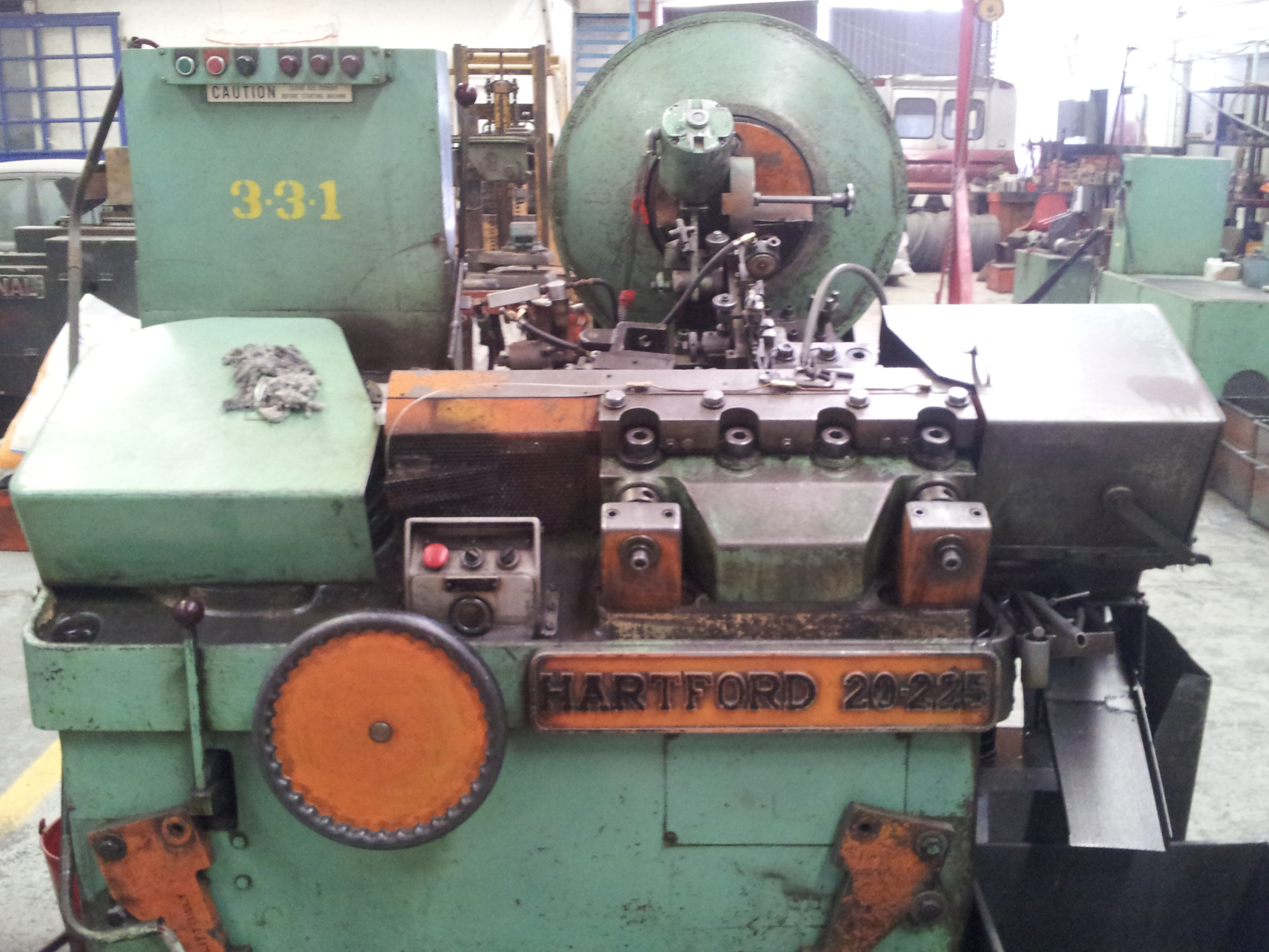 Used Hartford Special Machinery 20 225 Thread Rolling