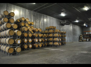 Used oak barrels from the best French vineyards