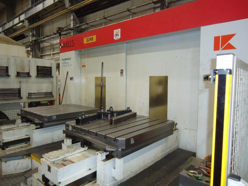 Kuraki kbm 11x p 5 axis cnc horizontal boring milling for 11x table
