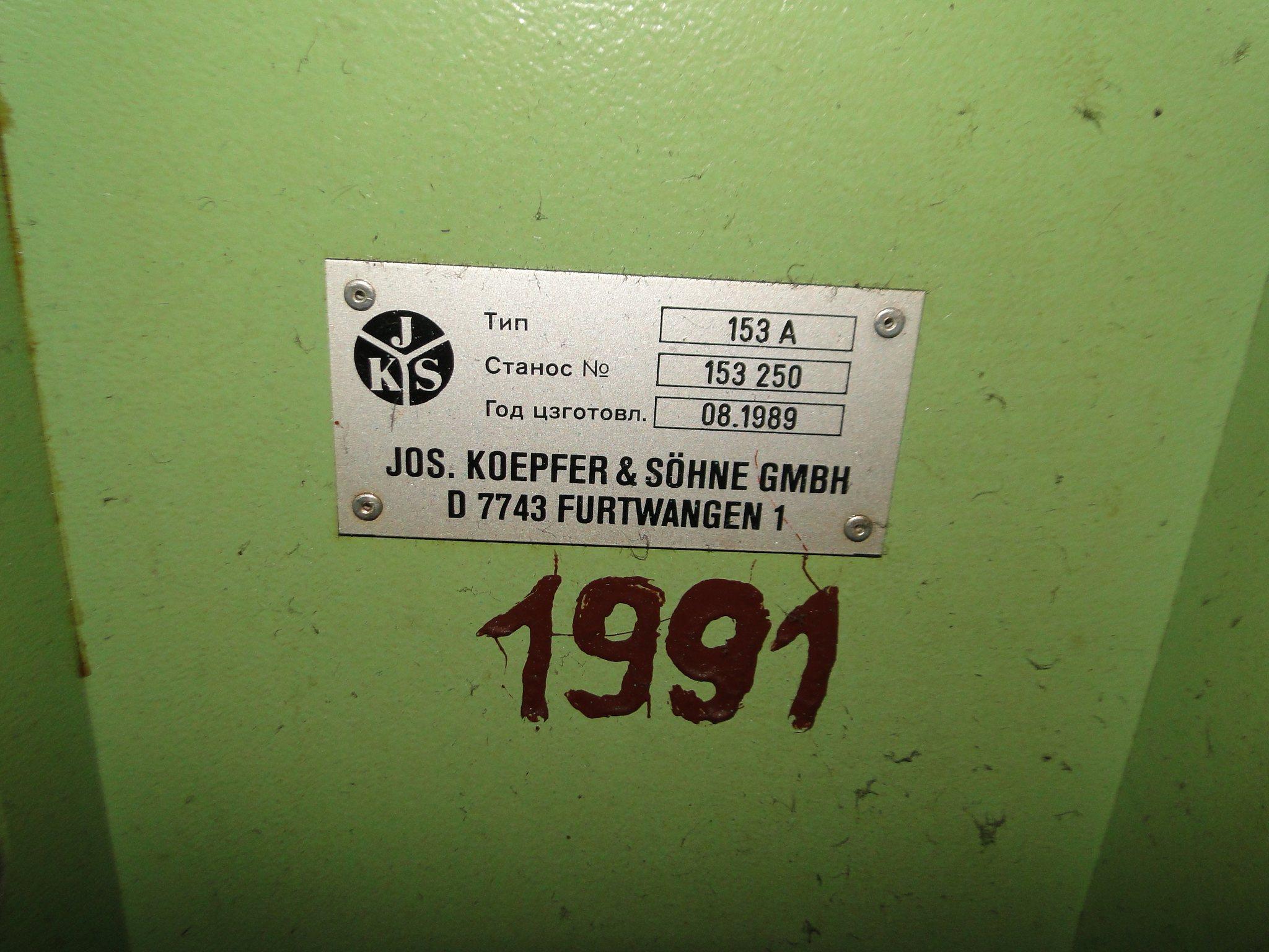 koepfer gear hobbing machine