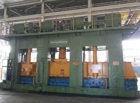 Lis na kov Siempelkamp 2000 Ton Použité stroje a zařízení