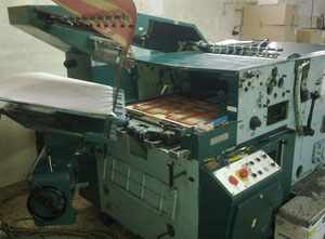 Paper cup line: machine for paper cups + automatic cutter paper machine Poligraph OM