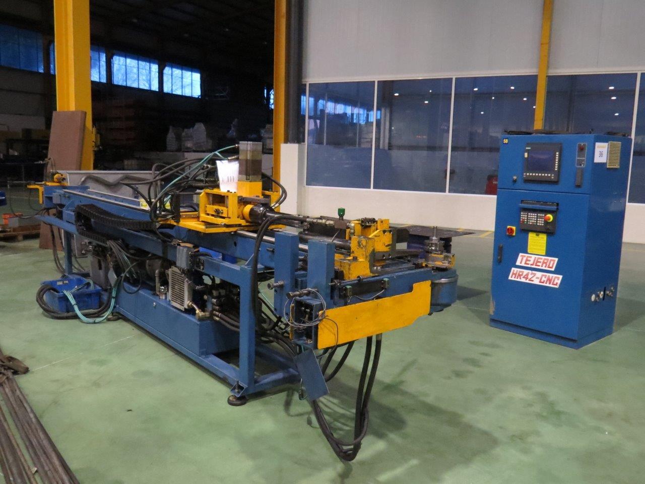 Curvadora de tubos tejero modelo hr 42 cnc v maquinas de for Curvadora de tubos segunda mano