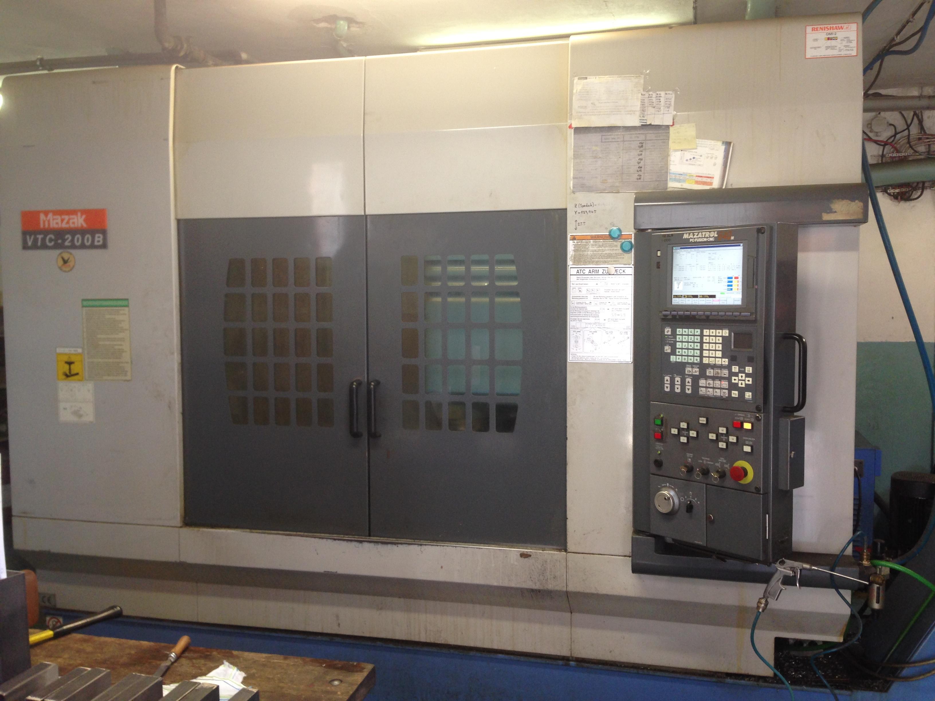 Mazak Vtc200b Cnc Vertical Milling Machine Exapro