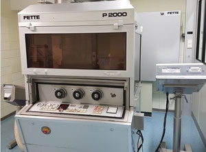 Fette P2000 rotary tablet press, 43 station, with Datacontrol and tablet deduster
