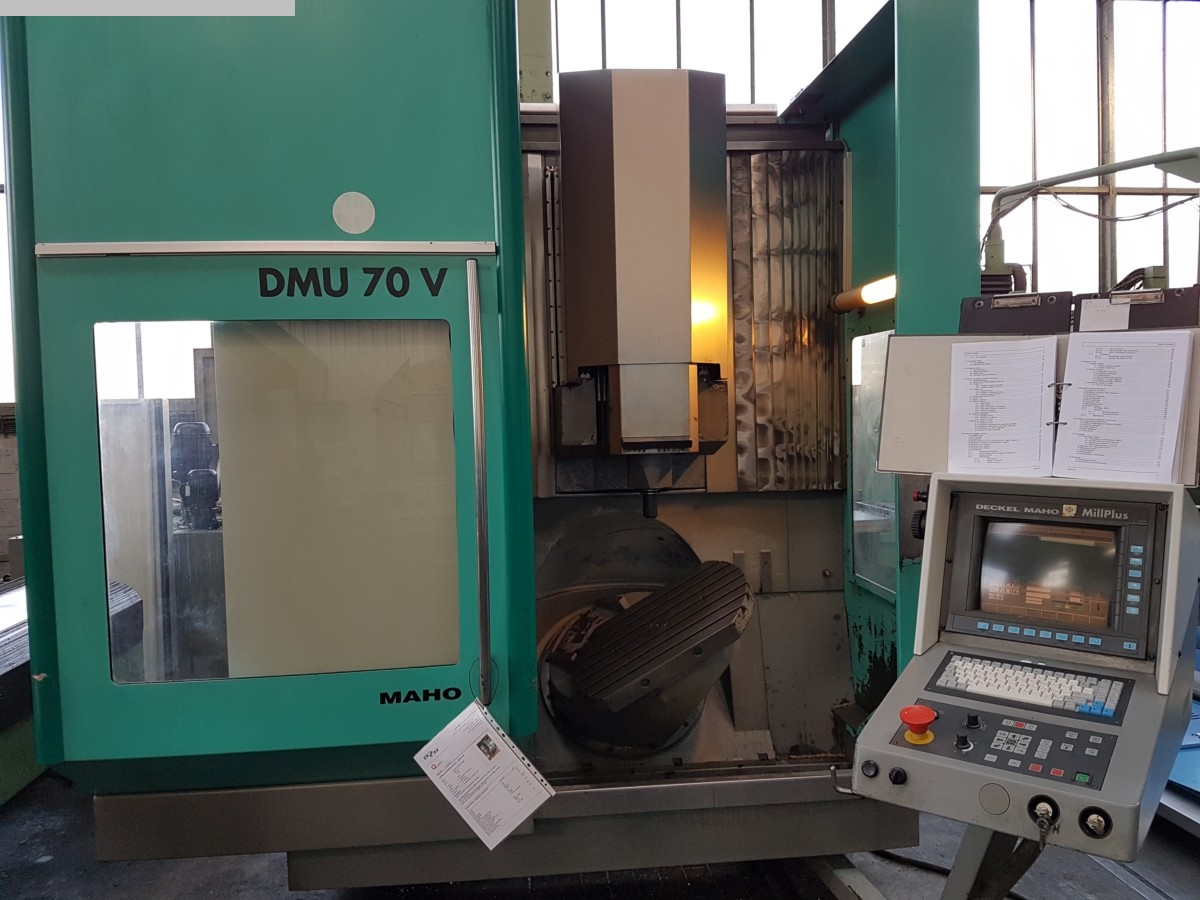 Deckel maho dmg dmu 70 v machining center 5 axis exapro for Dmg deckel maho