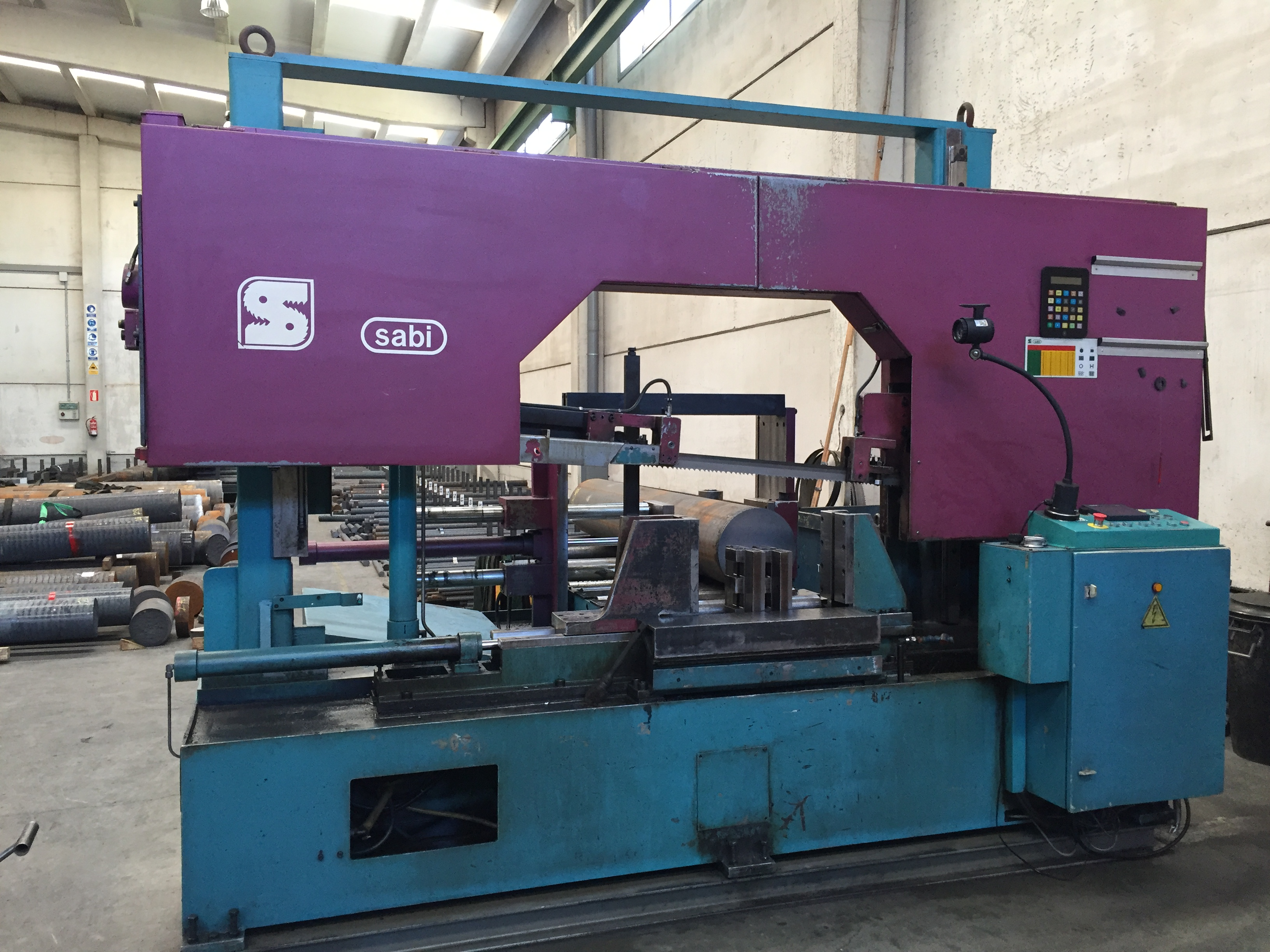 Sierra de cinta para metal sierras sabi pbs 550 maquinas - Sierra de cinta para metal ...