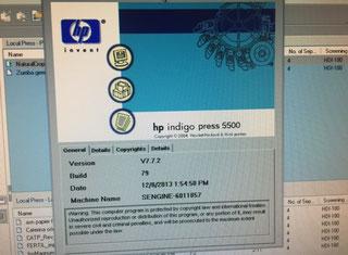 HP Indigo 5500 P70104079