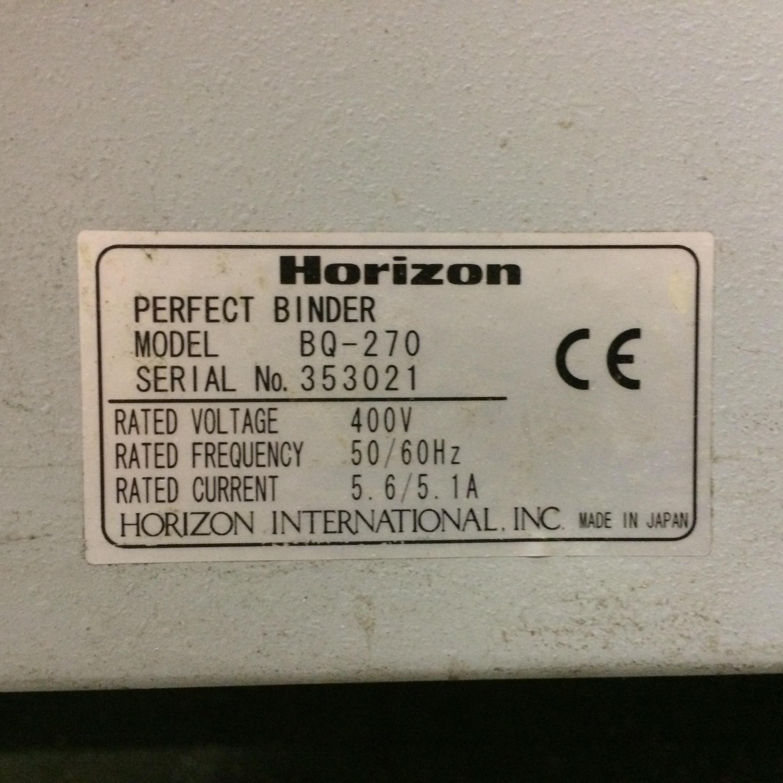 Horizon Bq 270 Perfect Binder Thermal Binder Exapro