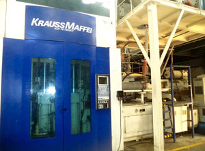 Krauss Maffei M175-1900CV Preform System with Piovan Resin Dryer and Multiple Moulds