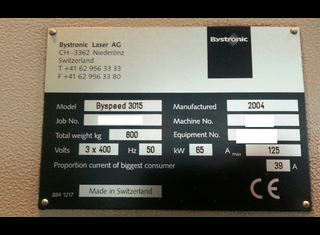 Bystronic Byspeed 3015 P70207069