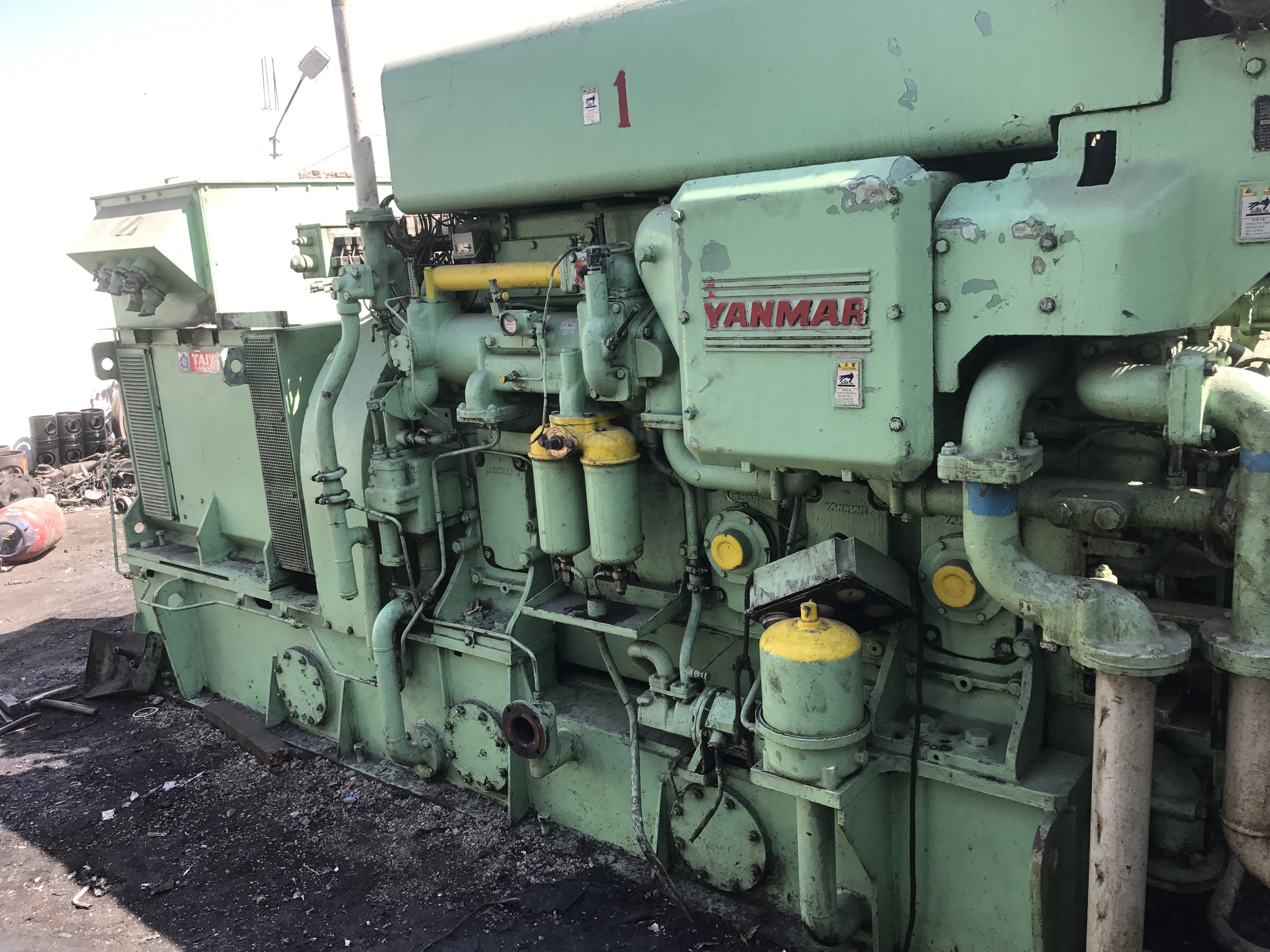 Yanmar 6N18AL-SN engine with spare parts   - Exapro