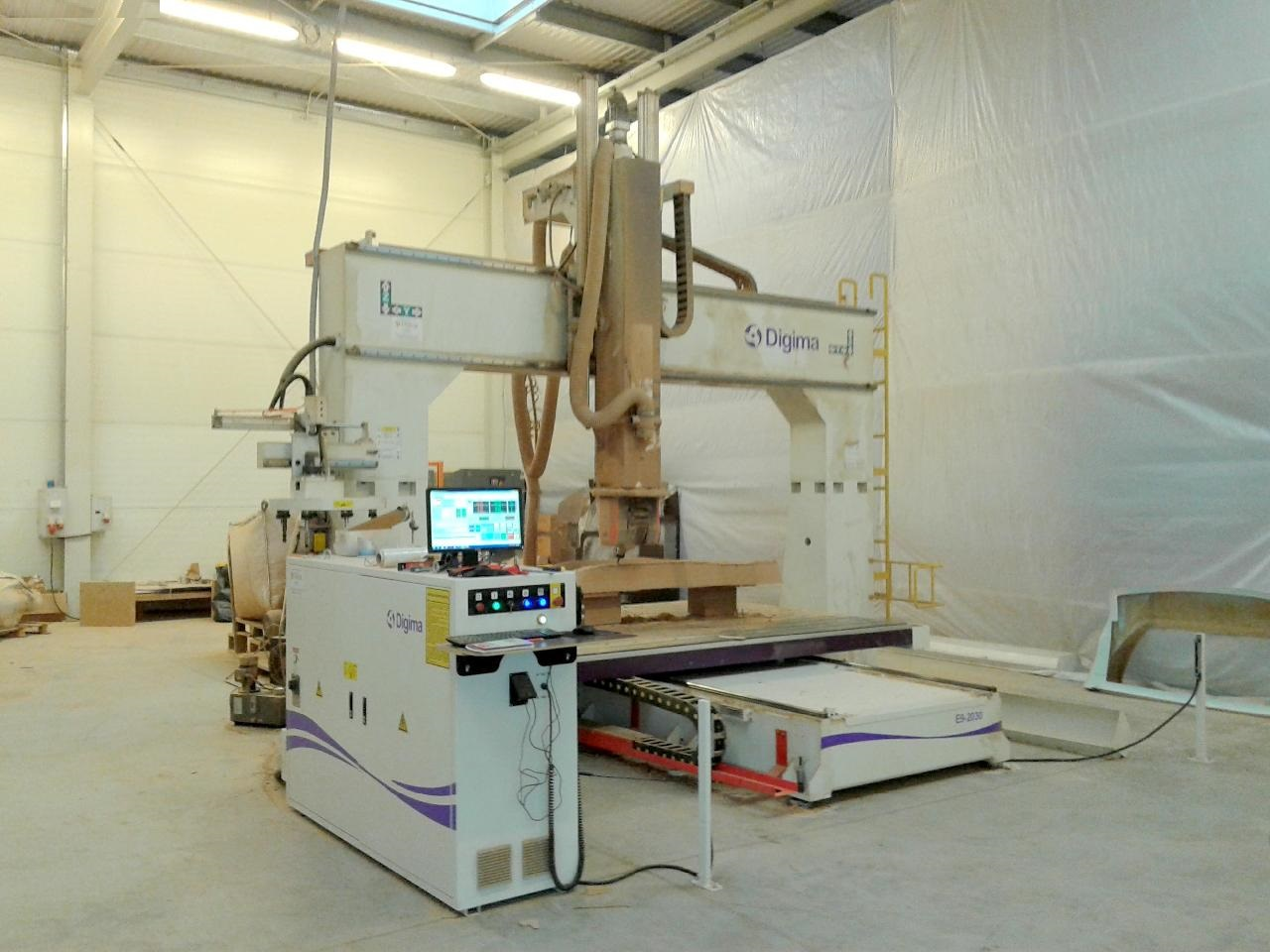 digima e9 2030 d wood cnc machining centre - 5 axis - exapro
