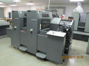 2004 Heidelberg Two Color Perfecting Press.