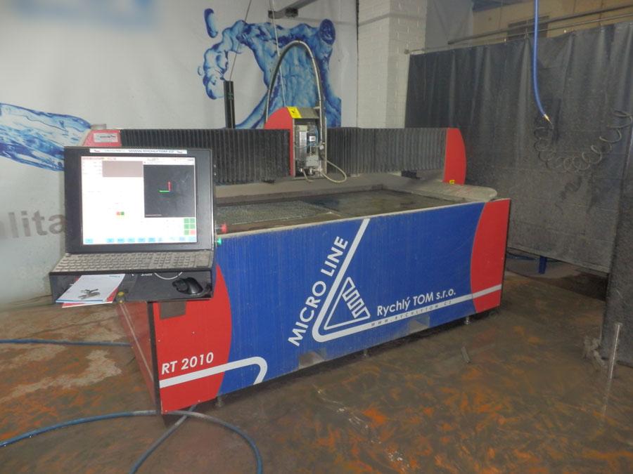 Maquina de corte con agua alta presion rt microline - Maquina de agua a presion ...