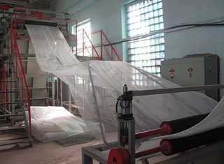 Extrusion Line for geogrid production Extrusion line - Exapro