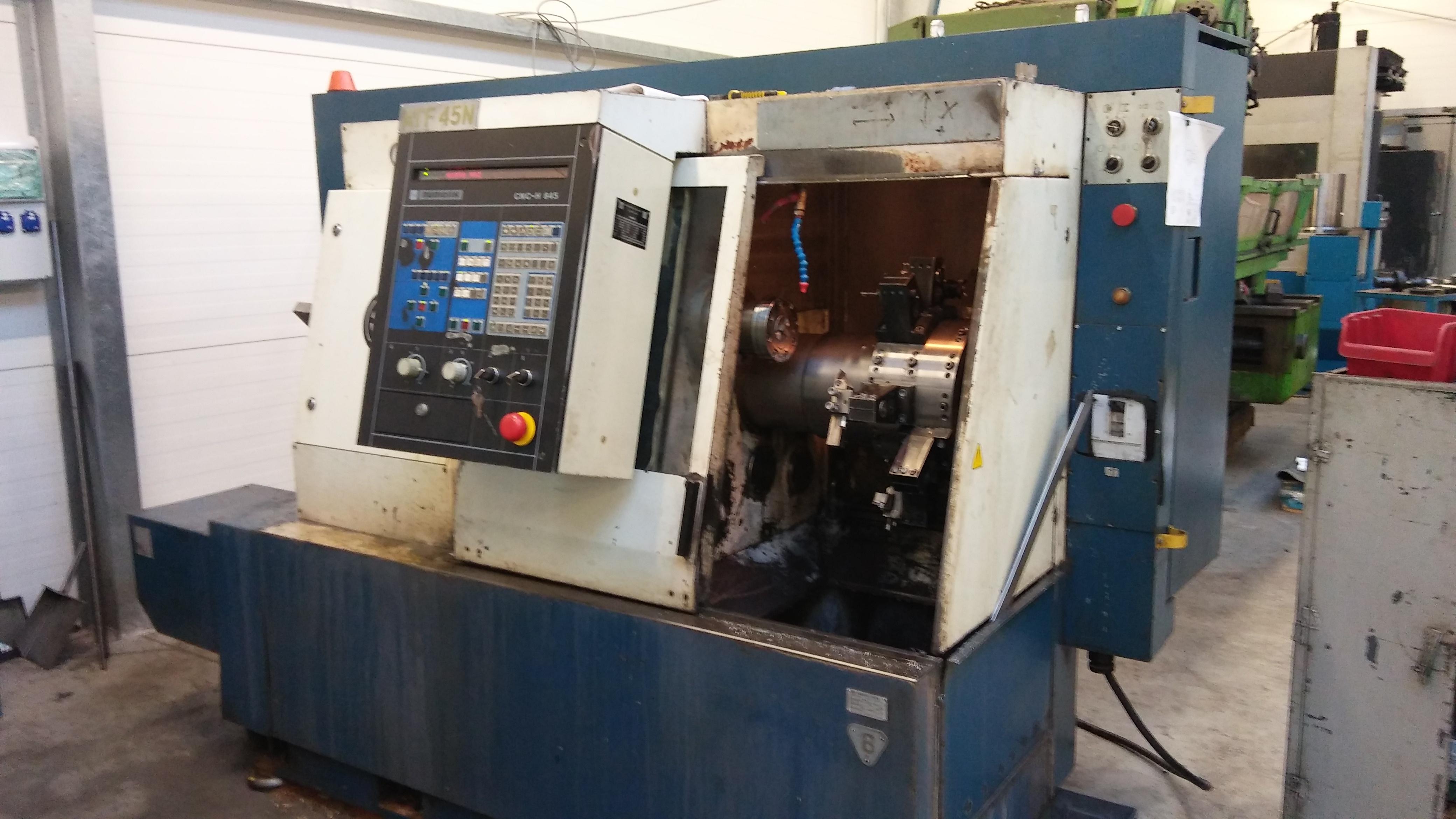 Ogromnie Automat tokarski CNC ATF 45N z podajnikiem pręta Maszyny używane IF53