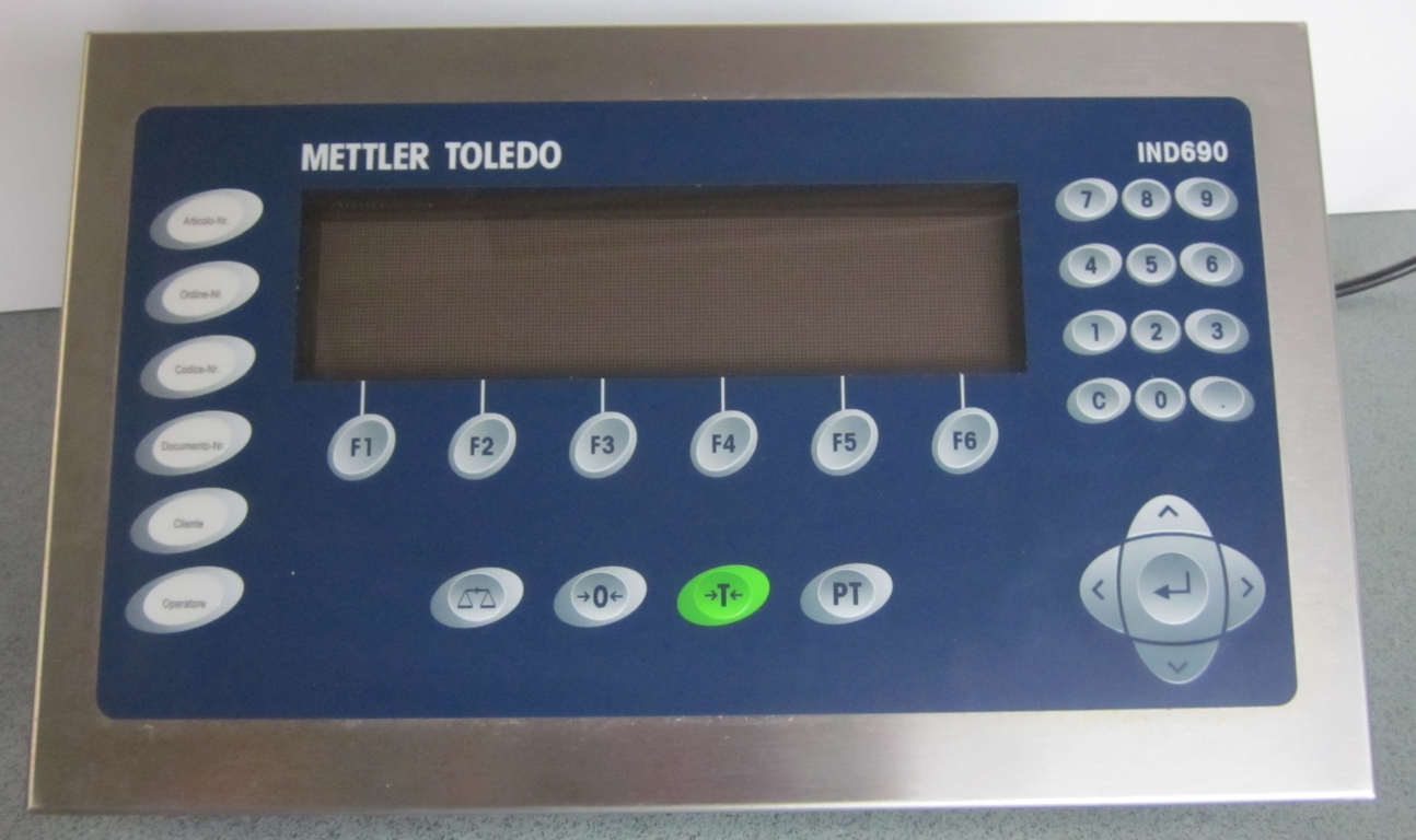 mettler toledo mod ind690 weighing terminal used exapro rh exapro com Mettler-Toledo Scales Manuals Mettler-Toledo Scales Manuals