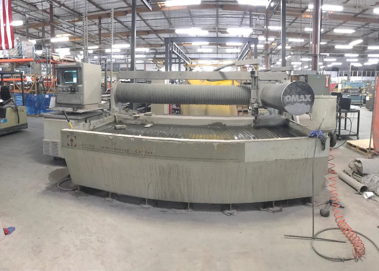 Omax 55100 waterjet cutting machine - Exapro