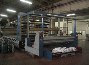 Rotary printing machine REGGIANI,Model FUTURA,w.w. 2.80m,gas,10 colours J box at the entry, year 1990