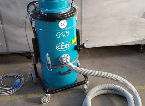 Cfm Mod 118 Industrial Vacuum Cleaner For Powders Used