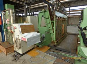 Used Angelo & Cremona slicer machine + Babcock veneer dryer machine TZE4000 Guillotine for veneer
