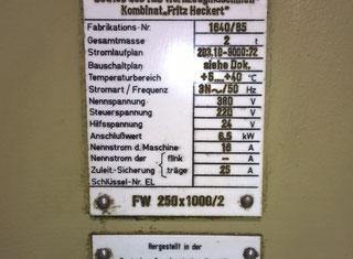 Wmw- Fritz Heckert FW 250X 1000/2 P80329004